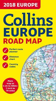 Picture of 2018 Collins Map of Europe
