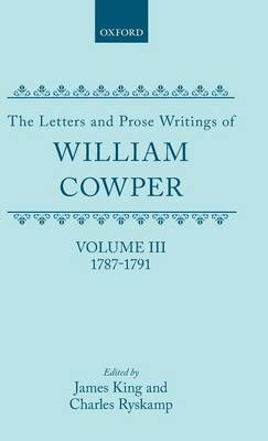 Picture of The Letters and Prose Writings: v. 3: Letters, 1787-1791