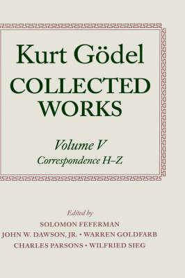 Picture of Kurt Godel: Collected Works: Correspondence, H-Z: Volume V