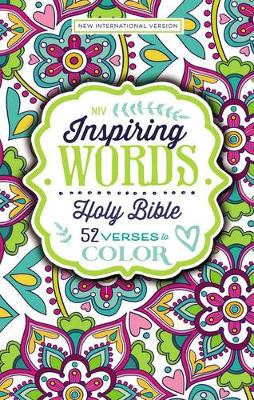 Picture of NIV Inspiring Words Holy Bible: 52 Verses to Color