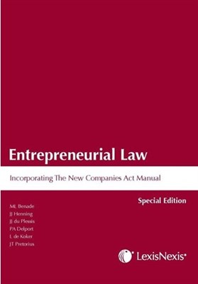 Picture of Entrepreneurial law incorporating the new companies act manual