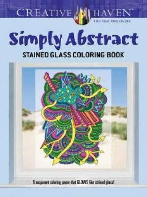 Picture of Creative Haven Simply Abstract Stained Glass Coloring Book