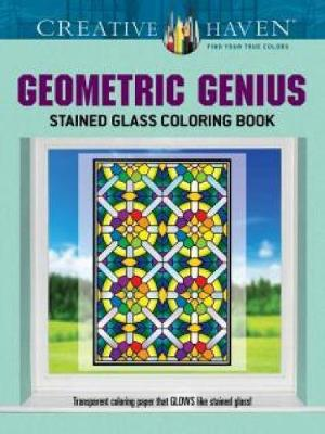 Picture of Creative Haven Geometric Genius Stained Glass Coloring Book