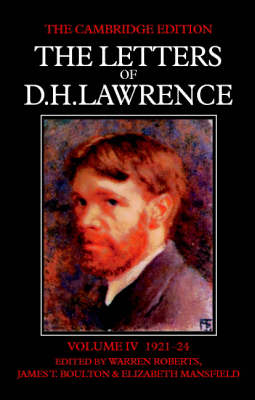 Picture of The Letters of D.H. Lawrence: v.4: June 1921-March 1924