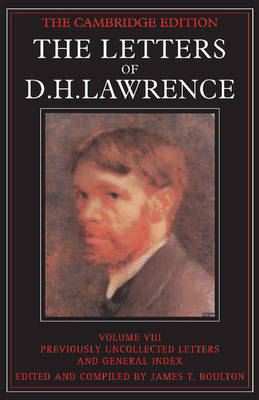 Picture of The Letters of D.H. Lawrence: v.8: Previously Unpublished Letters and General Index