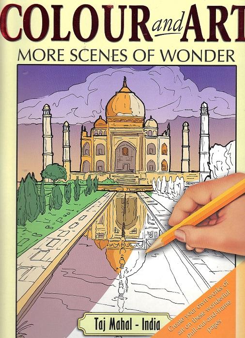 Picture of Colour & Art- More Scenes of Wonder Taj Mahal