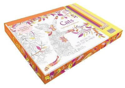 Picture of Cats Coloring Kit: 70 Designs to Help You De-Stress