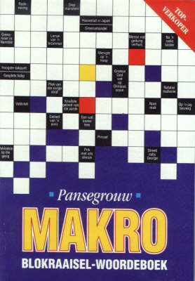 Picture of Pansegrouw-makro-blokraaiselboek