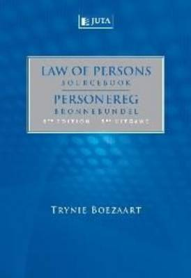 Picture of Law of persons sourcebook/Personereg bronnebundel
