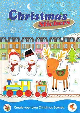 Picture of CHRISTMAS STICKERS- BLUE