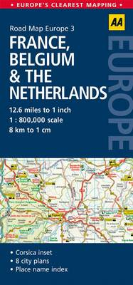 Picture of 3. France, Belgium & the Netherlands: AA Road Map Europe