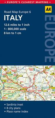 Picture of 6. Italy: AA Road Map Europe