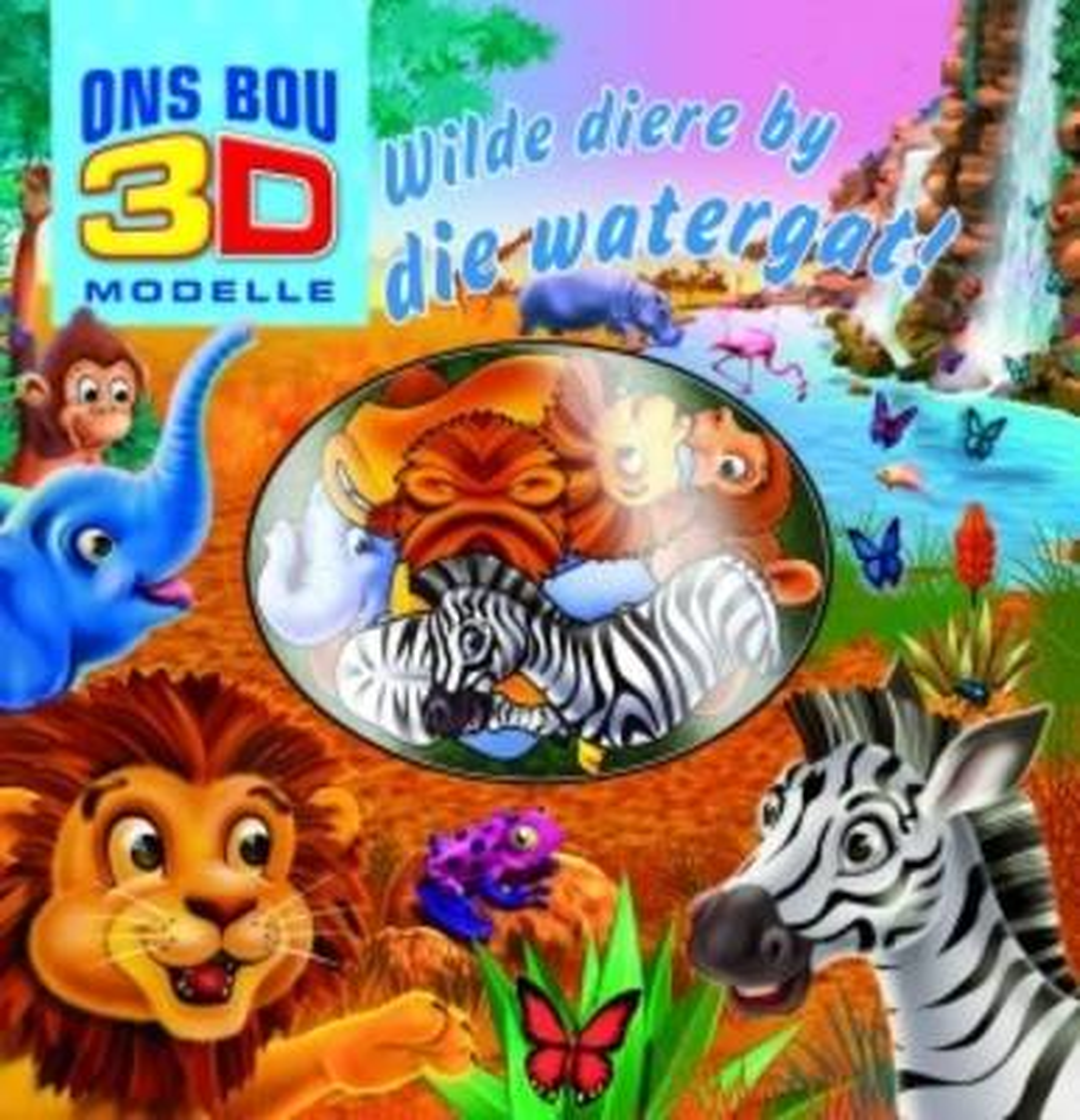 Picture of Kom ons bou 3D modelle: Wilde diere by die watergat