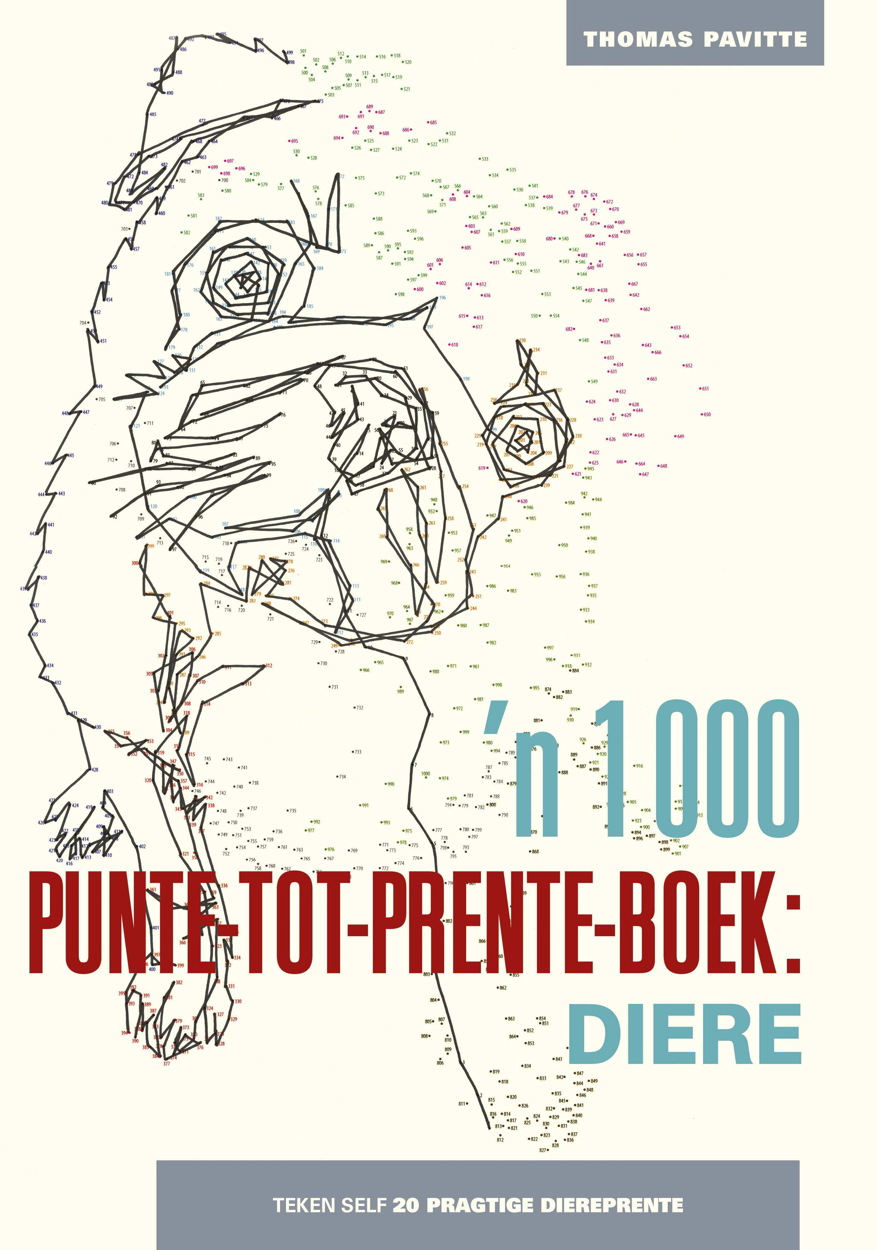 Picture of 'n 1 000 punte-tot-prente-boek: Diere