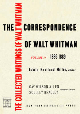 Picture of The Correspondence of Walt Whitman: Volume 4: 1886-89