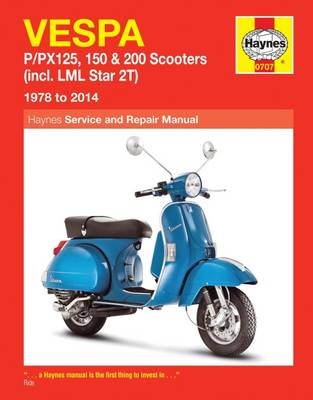 Picture of Vespa P/PX125, 150 & 200 Scooters Service and Repair Manual: 1978 to 2014