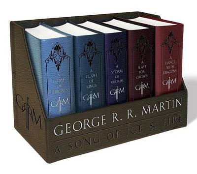 Picture of George R. R. Martin's a Game of Thrones Leather-Cloth Boxed Set (Song of Ice and Fire Series): A Game of Thrones, a Clash of Kings, a Storm of Swords, a Feast for Crows, and a Dance with Dragons
