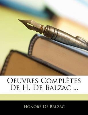 Picture of Oeuvres Completes de H. de Balzac ...