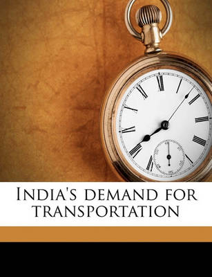 Picture of India's Demand for Transportation