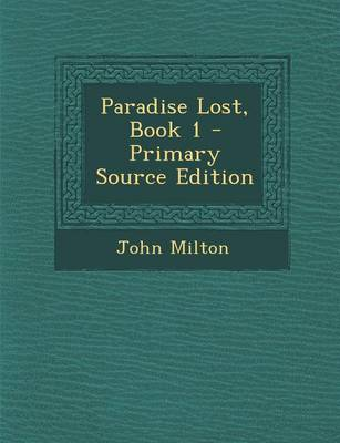 Picture of Paradise Lost, Book 1