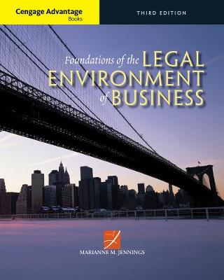 Picture of Cengage Advantage Books: Foundations of the Legal Environment of Business