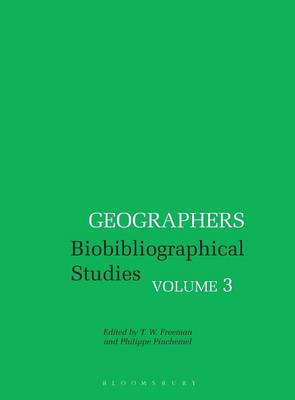 Picture of Geographers: Biobibliographical Studies: Volume 3
