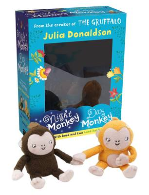 Picture of Night Monkey Day Monkey Books & Plush Set