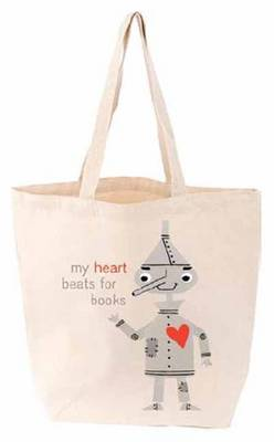 Picture of My Heart Beats for Books Tote Bag