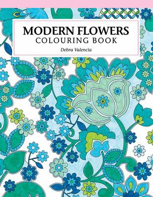 Picture of Modern flowers colouring book