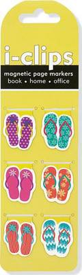 Picture of Flip Flop I-Clips Magnetic Page Markers (Set of 6 Magnetic Bookmarks)