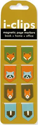 Picture of Woodland Friends I-Clips Magnetic Page Markers (Set of 8 Magnetic Bookmarks)