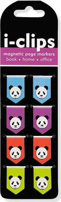 Picture of Panda I-Clips Magnetic Page Markers (Set of 8 Magnetic Bookmarks)