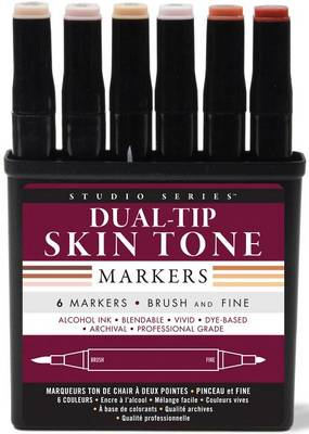 Picture of Studio Series Dual Tip Alcohol Marker Set - Skin Tones (6 Markers)