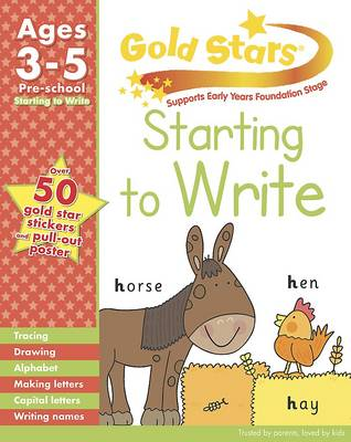 Picture of Gold Stars Starting to Write Preschool Workbook