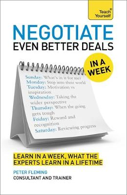 Picture of Negotiate Even Better Deals in a Week: Teach Yourself