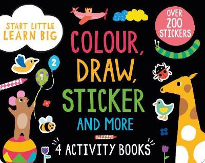 Picture of Start Little Learn Big Colour, Draw, Sticker and More: 4 Activity Books