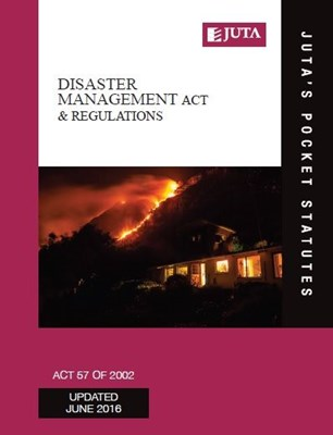 Picture of Disaster Management Act 57 of 2002 & regulations