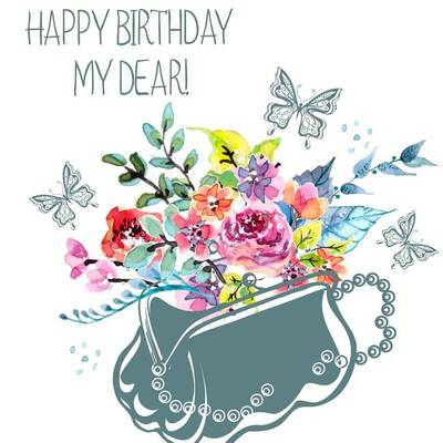 Picture of Happy Birthday, My Dear!: Birthday Guest Book & Photo Memory Book