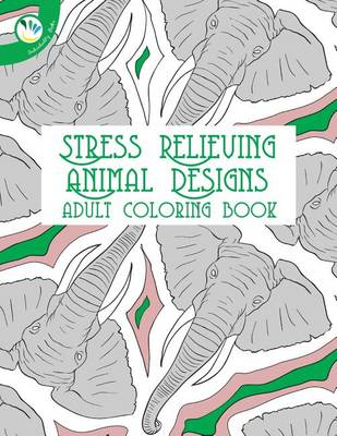 Picture of Stress Relieving Animal Designs Adult Coloring Book