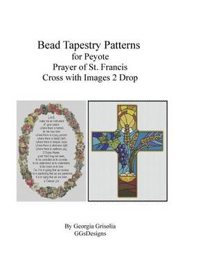 Picture of Bead Tapestry Patterns Peyote Prayer of St. Francis and Cross with Images