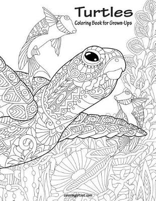 Picture of Turtles Coloring Book for Grown-Ups 1