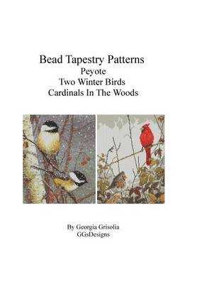 Picture of Bead Tapestry Patterns Peyote Two Winter Birds Cardinals in the Woods