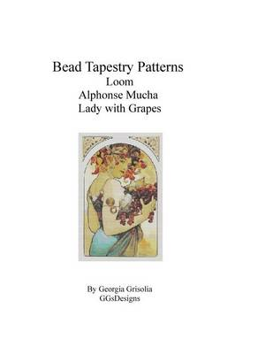 Picture of Bead Tapestry Patterns Loom Alphonse Mucha Lady with Grapes