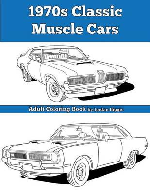 Picture of 1970s Classic Muscle Cars: Adult Coloring Book