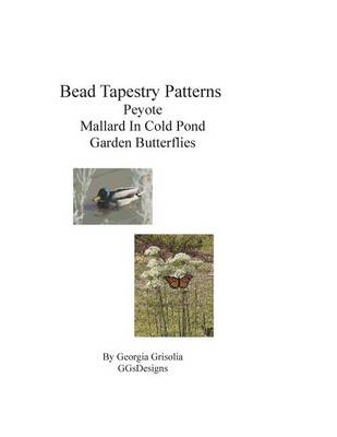 Picture of Bead Tapestry Patterns Peyote Mallard in Cold Pond Garden Butterflies