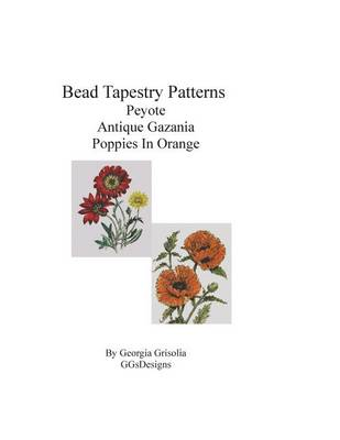 Picture of Bead Tapestry Patterns Peyote Antique Gazania Poppies in Orange