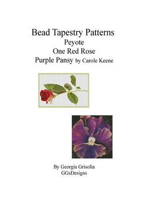 Picture of Bead Tapestry Patterns Peyote One Red Rose Purple Pansy by Carole Keene