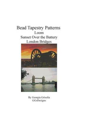 Picture of Bead Tapestry Patterns Loom Sunset Over the Battery London Bridges