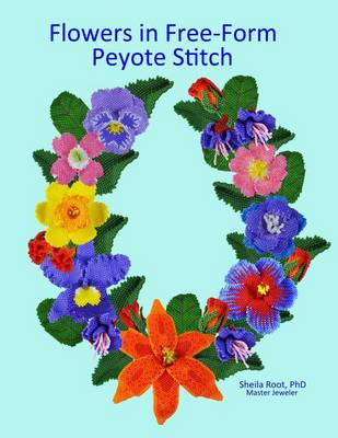 Picture of Flowers in Free-Form Peyote Stitch