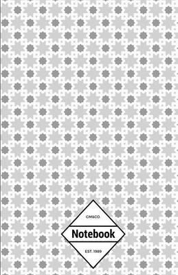 Picture of GM&Co  : Notebook Journal Dot-Grid, Lined, Graph, 120 Pages 5.5x8.5 (Grey Star Geometric)
